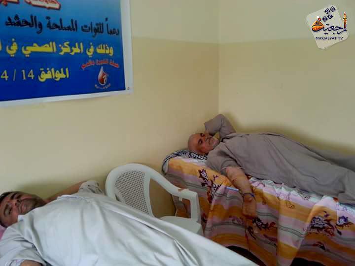 تصویر اجراى برنامه اهداى خون به مدافعان عتبات و مقدسات كشور عراق