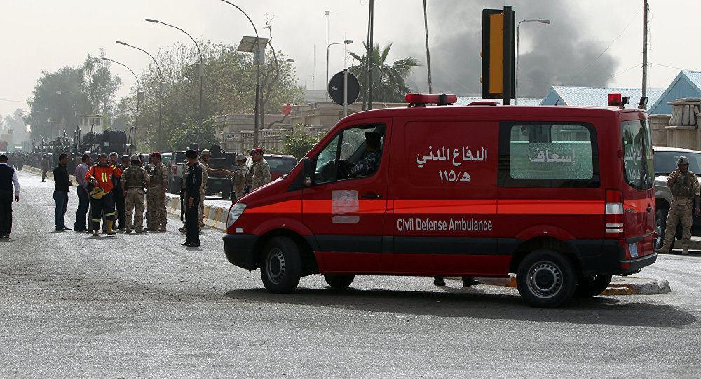 تصویر وقوع انفجار تروريستى در حسینیهای در جنوب بغداد