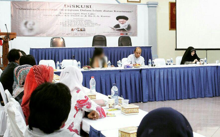 تصویر برگزاری همایش «حقوق و کرامت زن در اسلام» در کشور اندونزی