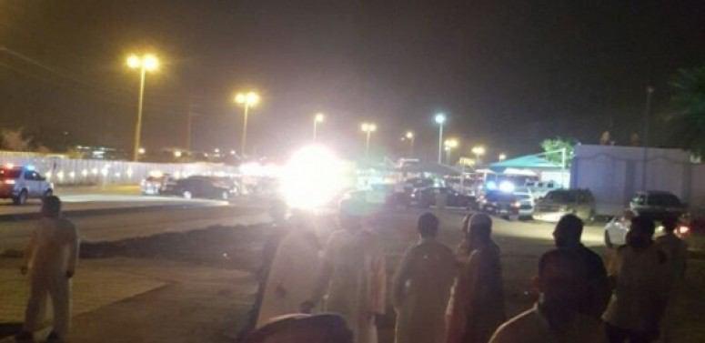 تصویر وقوع انفجار و تیراندازی در شهر الاحساء عربستان