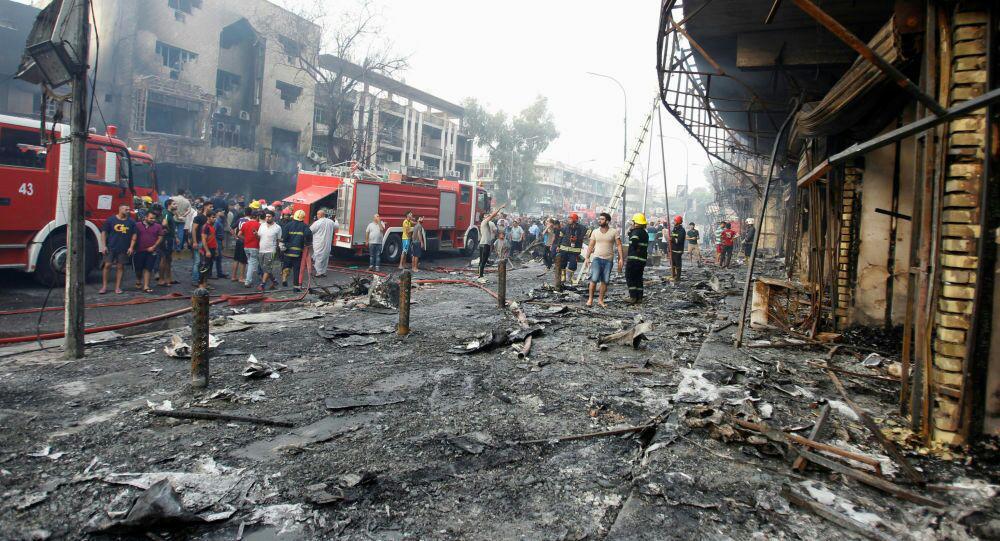 تصویر افزايش آمار قربانيان انفجار تروريستى در پايتخت عراق به ٣٥٦ شهيد و زخمى