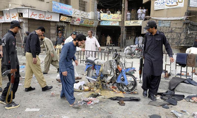 تصویر انفجار در بازار «گنج بخش» پاکستان