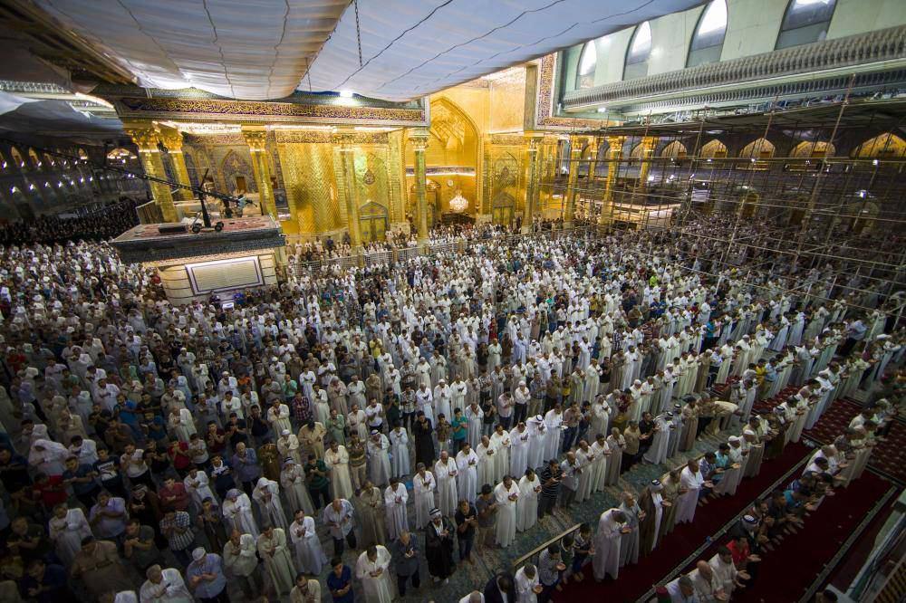 تصویر گزارش تصویری ـ نماز عید سعید فطر در حرم حضرت عباس عليه السلام