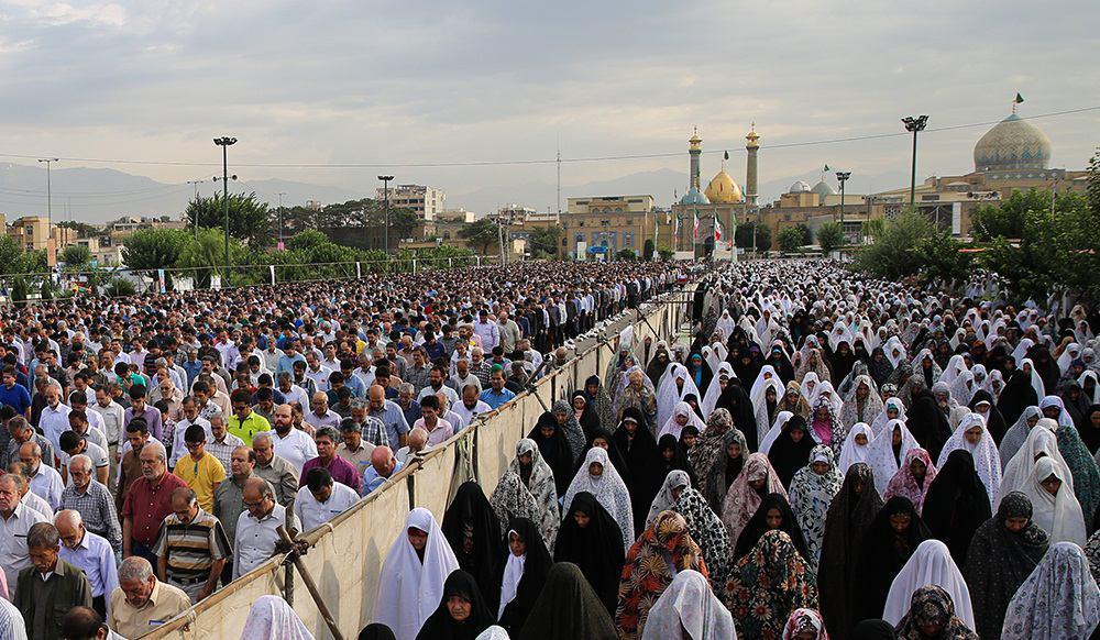 تصویر گزارش تصویری ـ نماز عید سعید فطر در جوار حرم  مطهر حضرت عبد العظیم حسنی علیه السلام