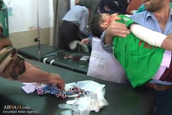 تصویر حمله سنى هاى تندرو به شيعيان شهر الزهرا در شمال حلب