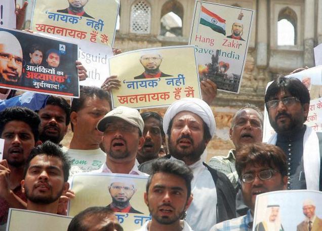 تصویر تظاهرات شيعيان هند عليه اقدامات افراط گرايانه يك مبلغ سلفى