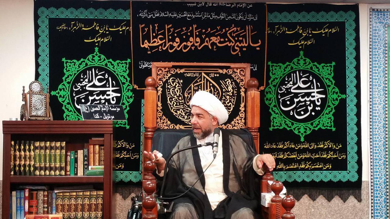 تصویر گزارش تصویری : عزاداری شیعیان کانادا در حسینیه امام حسین علیه السلامِ شهر مونترال به مناسبت تخریب قبرستان بقیع