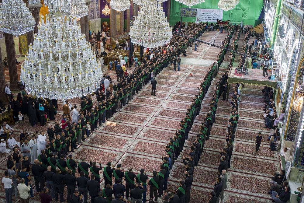 تصویر گزارش تصویری : مراسم عزاداری سالروز تخریب بقیع در شهر مقدس کربلا
