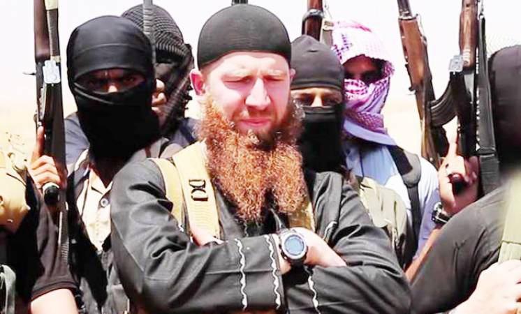 تصویر داعش مرگ عمر شیشانی را تایید کرد