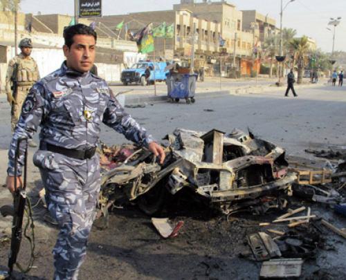 تصویر 12 مجروح و شهيد در انفجارهای تروریستی شهر بغداد