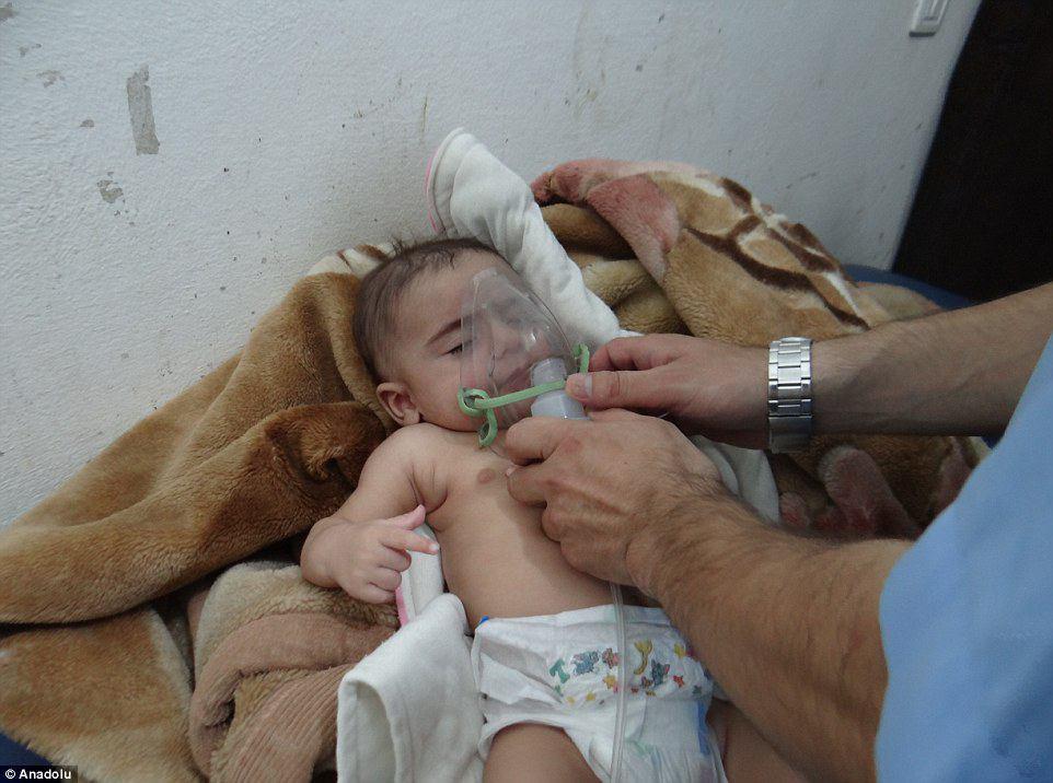 تصویر حمله شیمیایی داعش به ادلب سوریه