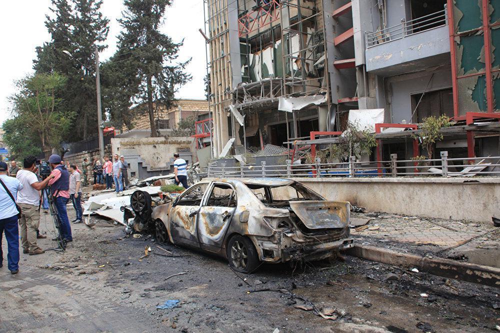 تصویر هفت شهید در حملات خمپاره ای به شهر حلب