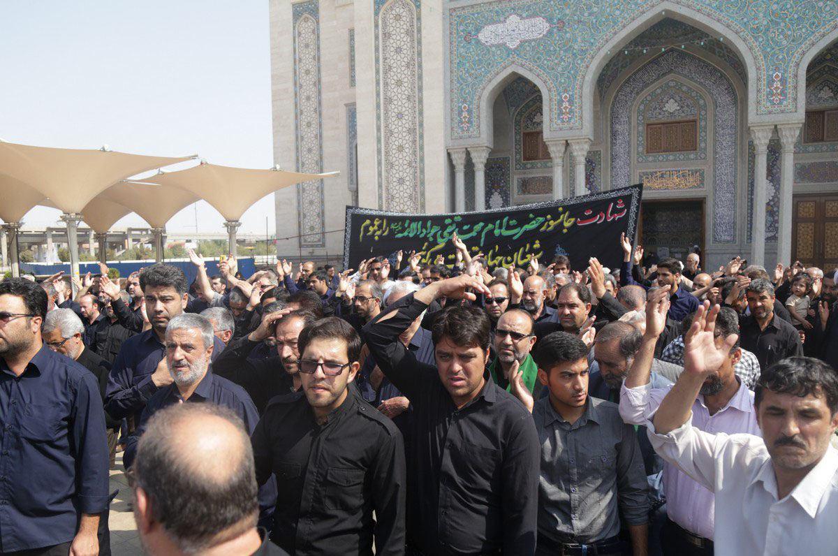 تصویر گزارش تصویری ـ عزاداری شیعیان به مناسبت شهادت جواد الائمه علیه السلام در حرم مطهر حضرت معصومه سلام الله علیها