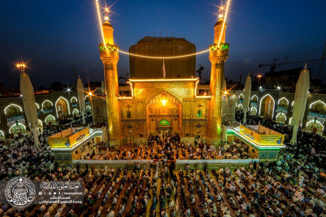 تصویر ورود زائران به شهر مقدس نجف و جشن و سرور شيعيان در عيد سعيد غدير
