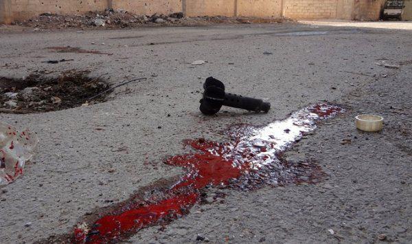 تصویر حملات خمپاره ای تروریست ها به شیعیان شهر الزهرا در شمال غرب سوریه