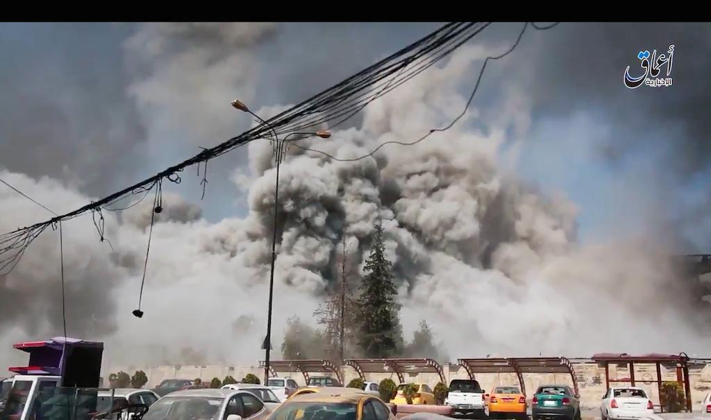 تصویر انهدام یکی از بزرگ ترین کارگاه های بمب گذاری داعش در موصل
