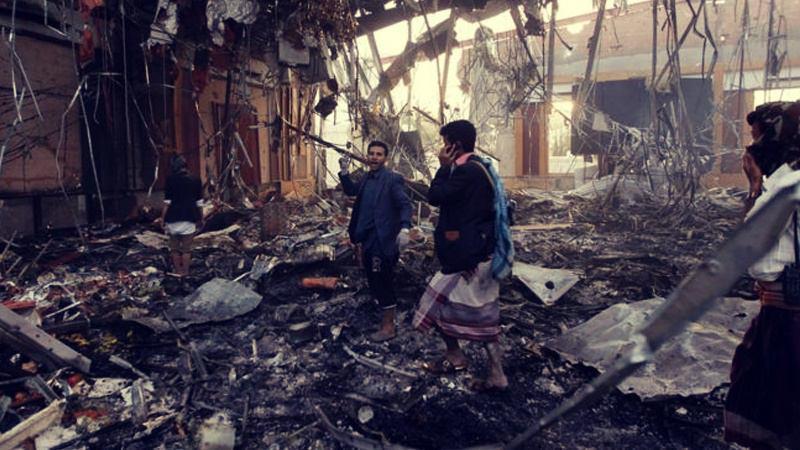 تصویر محکومیت حمله جنگنده های عربستان به صنعا از سوی سازمان ملل متحد