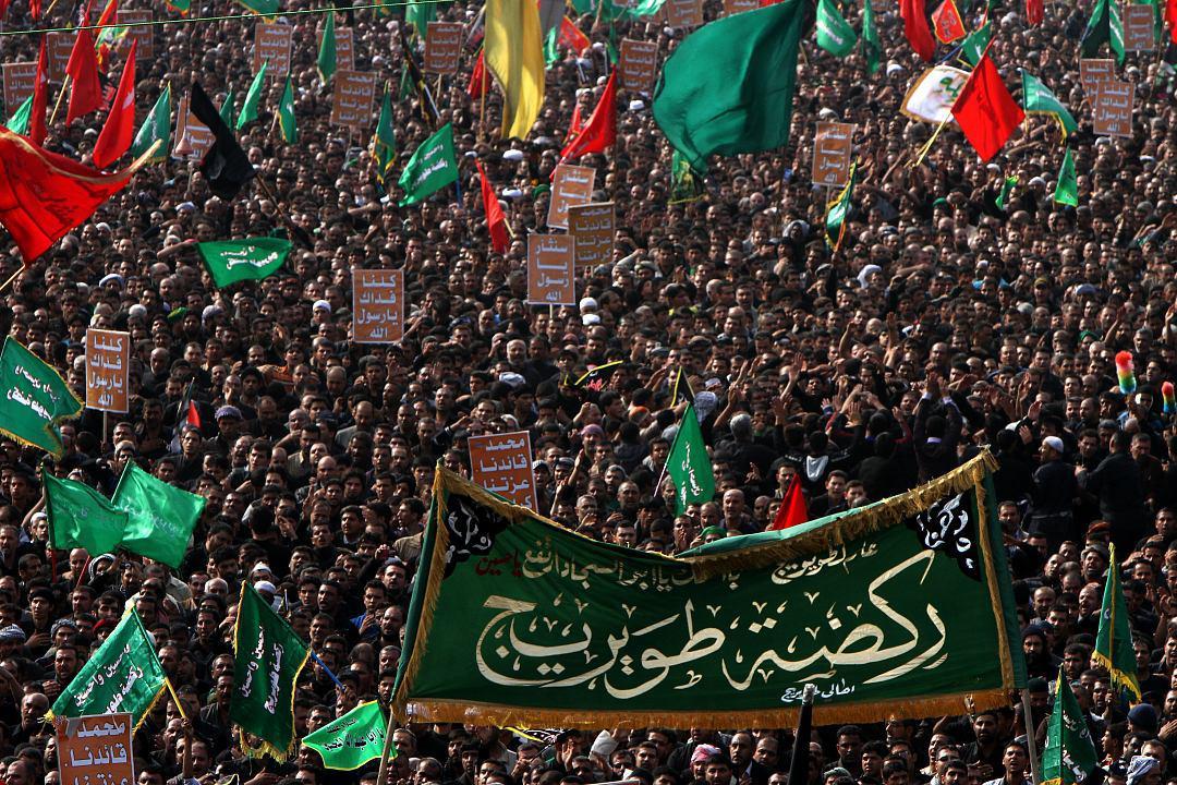 تصویر آمادگی عزاداران حسینی جهت مشارکت در عزای طویریج