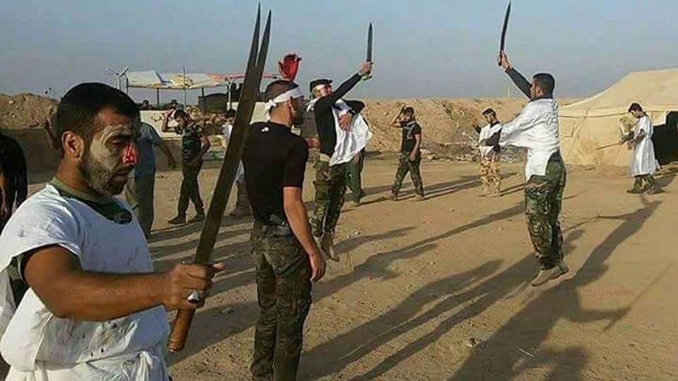 تصویر برپايى سوگواره خون و شمشير در ميادين نبرد عليه داعش