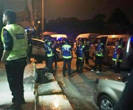 تصویر بازداشت ۳۵ تن از شیعيان مالزى