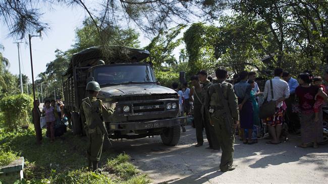 تصویر قطع کمکهای غذایی به مسلمانان در میانمار