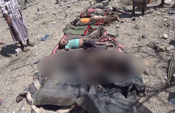 تصویر بیش از یکصد جان باخته و مجروح در پی بمباران اخیر یمن از سوی جنگنده های سعودی
