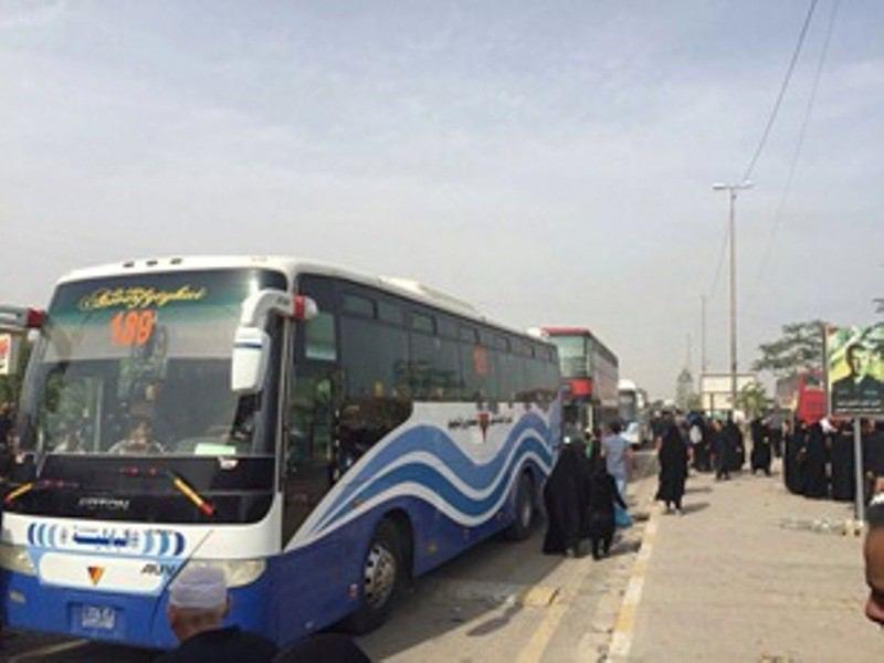 تصویر حمل و نقل زائران اربعین؛ از مرز های جنوبی عراق تا شهر مقدس کربلا