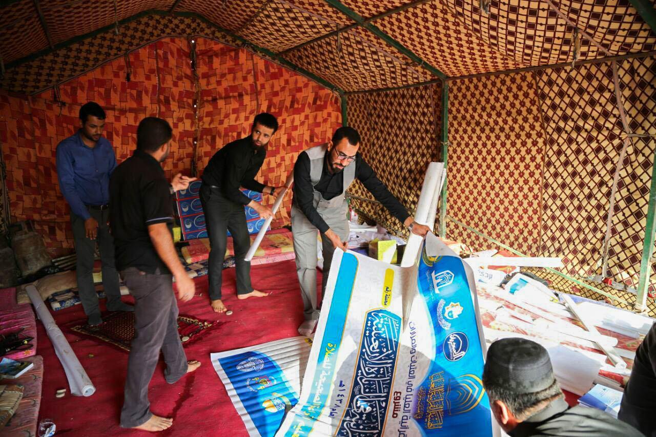 تصویر آغاز بهکار ایستگاههای قرآنی اربعین در عراق