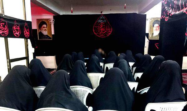 تصویر برگزاری همايش تبليغی با شعار« حسين محور اتحاد» در حوزه علميه خواهران در شهر مقدس