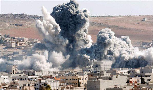 تصویر حمله به يك منطقه مسكونى تعز در يمن