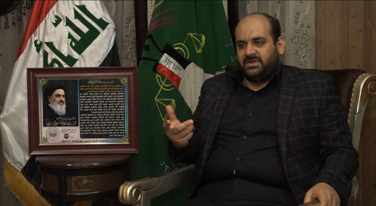 تصویر فعالیت های سازمان العمل اسلامی عراق در خدمت به زائران اربعین حسینی