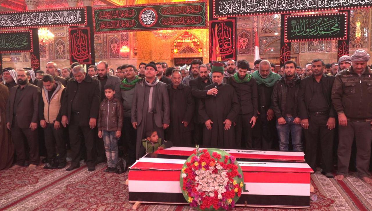 تصویر تشییع دو تن از شهدای مدافع عتبات و مقدسات عراق