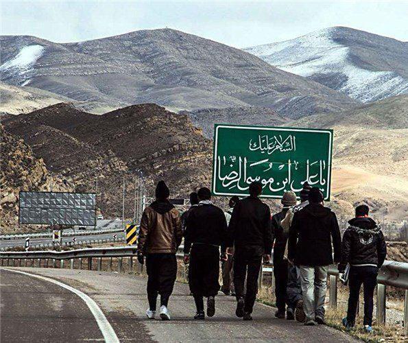 تصویر ورود خيل عظيم زائران رضوى به شهر مقدس مشهد