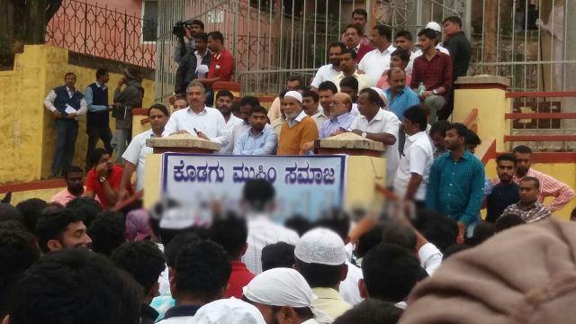 تصویر راهپیمایی مسلمانان هندی در اعتراض به قرآن سوزی