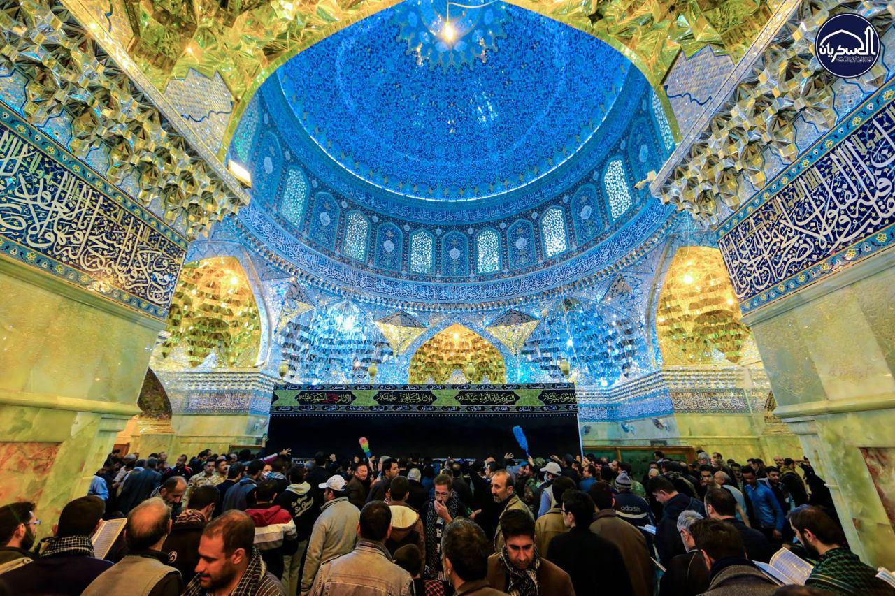 تصویر گزارش تصویری ـ حضور شیعیان عزادار در آستانه شهادت امام حسن عسکری علیه اسلام در شهر سامرا