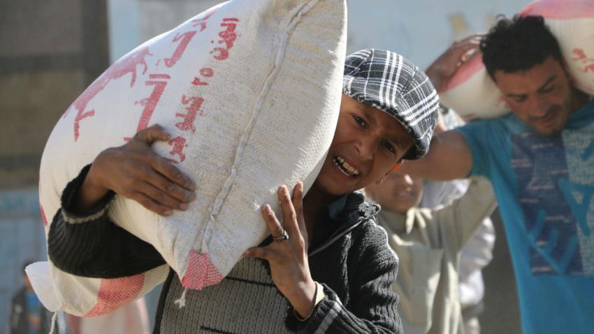 تصویر يمن در خطر تلف شدن از گرسنگی