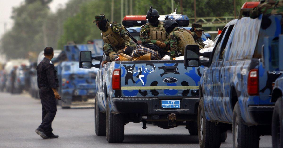 تصویر خنثی سازی حمله انتحاری توسط نیروهای پلیس در محور جنوبی استان نجف اشرف