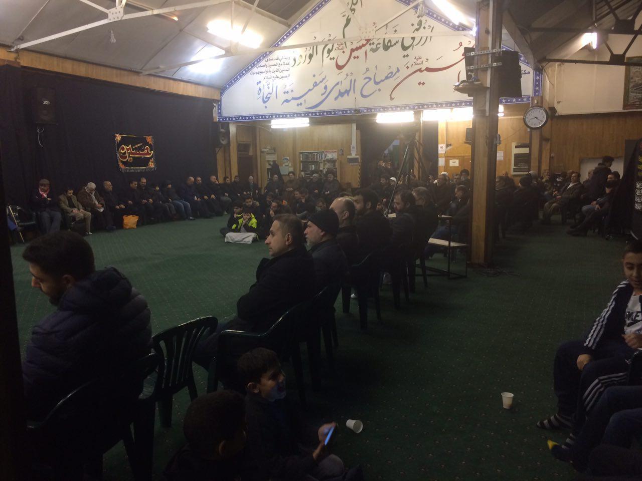 تصویر برگزاری مراسم ایام فاطمیه در حسینیه رسول اعظم در لندن