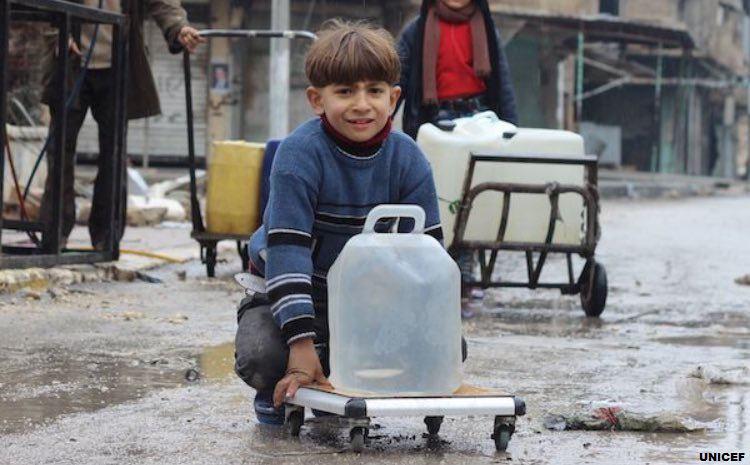 تصویر یونیسف درباره آبهای آلوده در سوریه هشدار داد
