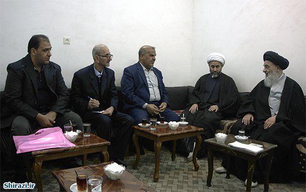 Photo of دیدار آیت الله العضمی شیرازی با مسئولان حرم مطهر سلمان محمدی