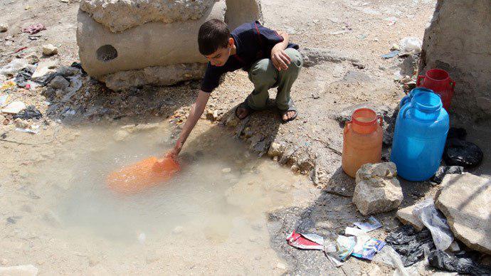 تصویر بحران آب در حلب