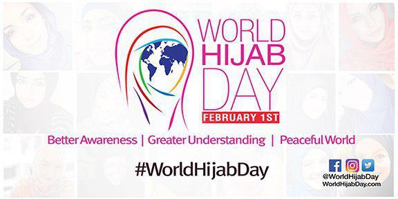 تصویر روز جهانی حجاب در دانشگاه میامی آمریکا