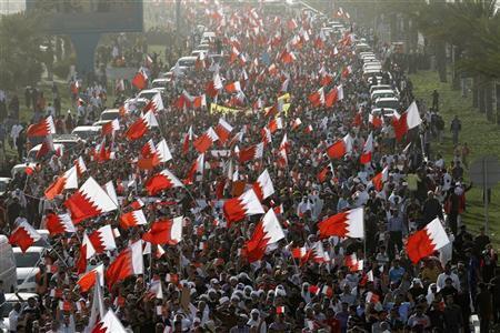 تصویر ادامه اعتراضات در بحرین