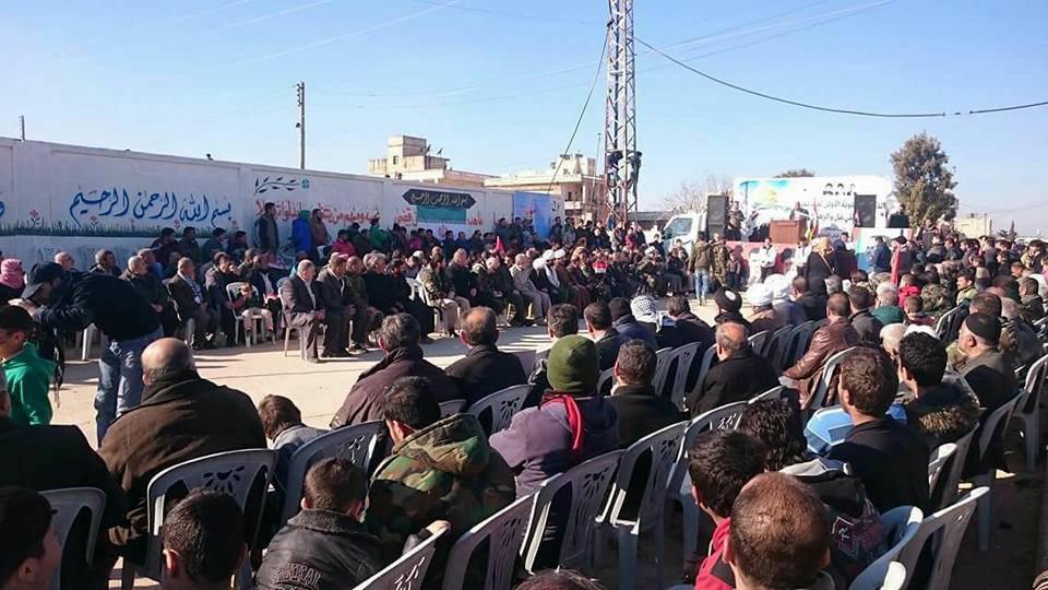 تصویر سالگرد شکست محاصره دو شهر شيعه نشين نبل و الزهراء در سوريه