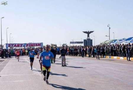 تصویر برگزاری اولین مسابقه ورزشی بین المللی در عراق پس از سرنگونی صدام