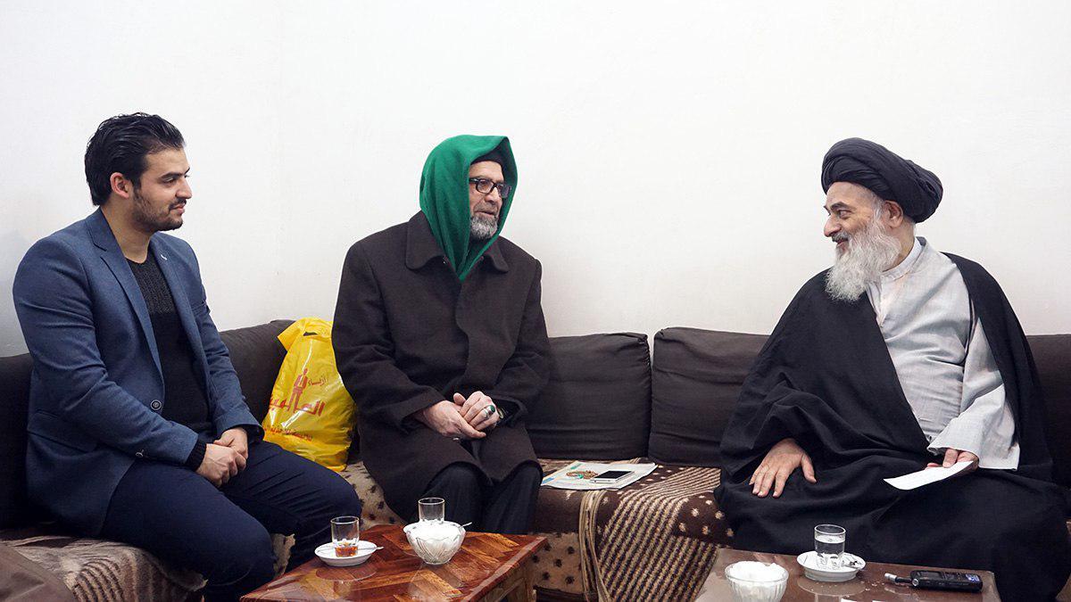 تصویر دیدار مسئولین مقام امام صادق علیه السلام با مرجعیت شیعه
