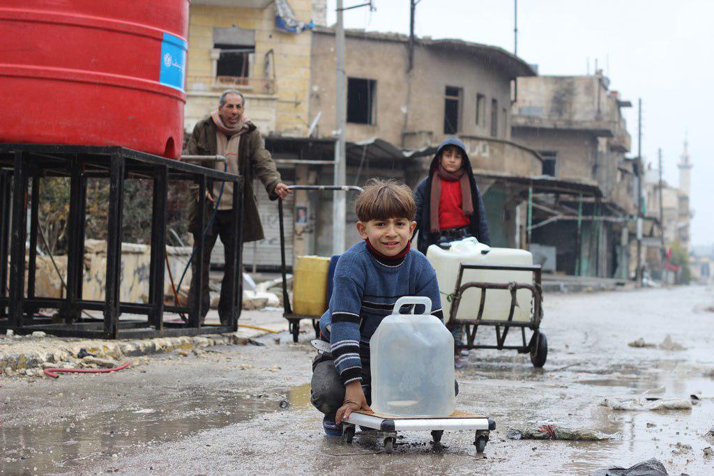 تصویر ابراز نگرانی سازمان ملل از قطع آب آشامیدنی حلب سوریه