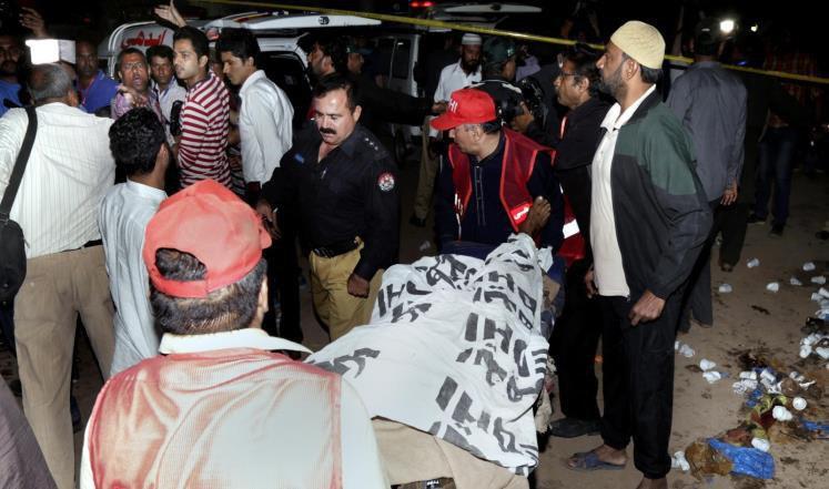 تصویر انفجار تروریستی در لاهور پاکستان