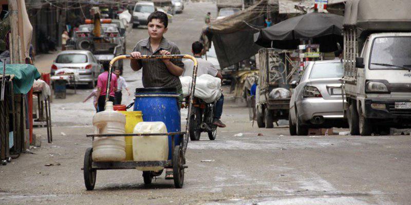 تصویر داعش آب حلب را قطع کرد