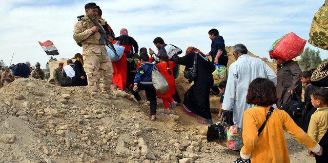 تصویر نگرانی سازمان ملل از آوارگی غیر نظامیان غرب موصل